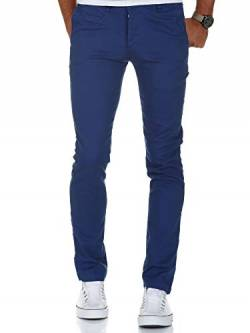 Amaci&Sons Herren Slim Fit Stretch Chino Hose Jeans 7100 Blau W29/L32 von Amaci&Sons