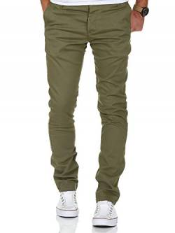 Amaci&Sons Herren Slim Fit Stretch Chino Hose Jeans 7100 Olive W38/L30 von Amaci&Sons