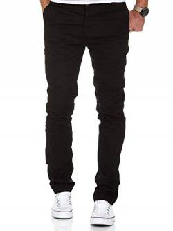 Amaci&Sons Herren Slim Fit Stretch Chino Hose Jeans 7100 Schwarz W33/L30 von Amaci&Sons