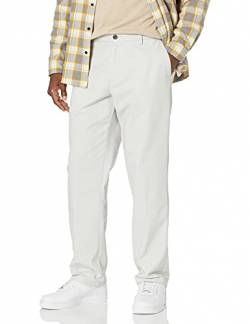 Amazon Essentials Classic-Fit Wrinkle-Resistant Flat-Front Chino Pant Unterhose, Silver, 36W x 32L von Amazon Essentials