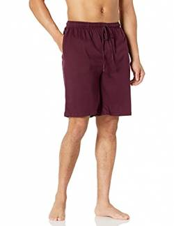 Amazon Essentials Herren Schlafanzug-Shorts gestrickt, Rot (Burgundy Bur), US S (EU S) von Amazon Essentials