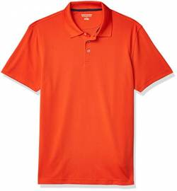 Amazon Essentials Slim-Fit Quick-Dry Polo Golf-Shirts, Orange, 48-50 von Amazon Essentials