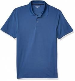 Amazon Essentials Slim-Fit Quick-Dry Polo Golf-Shirts, Blau, 45-47 von Amazon Essentials