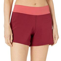 Amazon Essentials Women's Woven Short Fashion-Swim-Trunks, burgunderfarben, L von Amazon Essentials