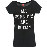 American Horror Story All Monsters Are Human Girl Shirt Frauen T-Shirt schwarz von American Horror Story