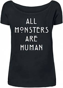 American Horror Story All Monsters Are Human Frauen T-Shirt schwarz XL von American Horror Story
