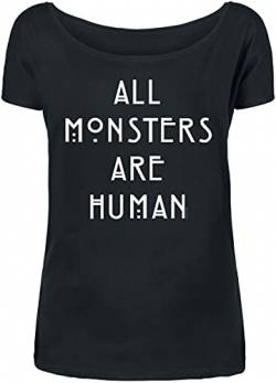 American Horror Story All Monsters Are Human Frauen T-Shirt schwarz 3XL von American Horror Story