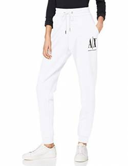 Armani Exchange Damen Icon Project Jogger Sporthose, Weiß (Optic White 1000), W(Herstellergröße:L) von Armani Exchange