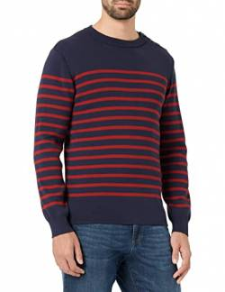 Armor Lux Herren Pull Marin Groix Homme Pullover, Mehrfarbig I78 Navire/Piment, X-Large von Armor Lux