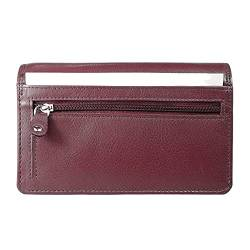 Arrigo Unisex-Adult 01B-301R Wallet with flap, Donkerrood, Large von Arrigo