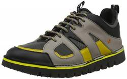 art Unisex-Erwachsene 1581 Multi Leather Ontario Brogues, Grau (Grey/Yellow Grey/Yellow), 38 EU von art