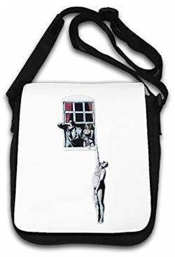 Banksy Street Art Window Hanging Lover Schultertasche von Atprints