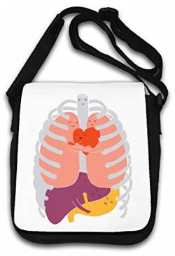 Cute Happy Healthy Internal Organs Schultertasche von Atprints