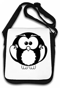 Cute Little Owl Graphic Artwork Funny Schultertasche von Atprints