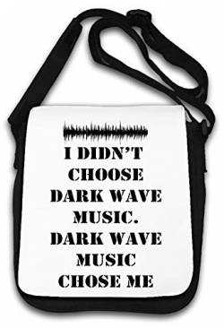 Dark Wave Music Chose Me Slogan Schultertasche von Atprints