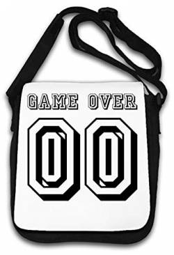 Game Over 00 Funny Slogan Schultertasche von Atprints