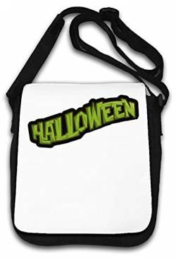 Halloween Green Logo Holiday Celebration Schultertasche von Atprints
