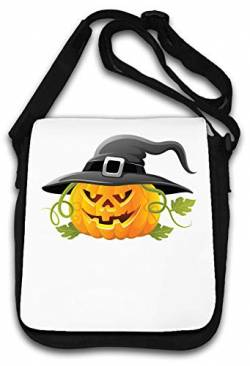 Halloween Witch Hat Pumpkin Cute Art Schultertasche von Atprints
