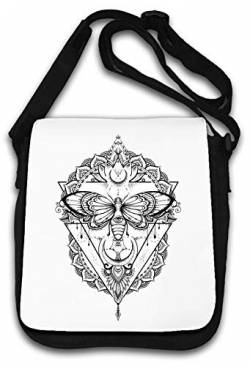 Illuminati Moth All Seeing Eye Mandala Sketch Art Schultertasche von Atprints