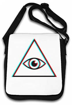 Illuminati Vaporwave Styled Glitch All Seeing Eye Schultertasche von Atprints