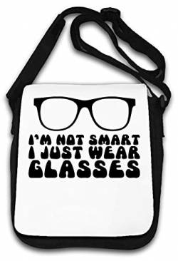 Im Not Smart I Just Wear Glasses Funny Schultertasche von Atprints