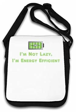Im not Lazy Im Energy efficient Funny Art Schultertasche von Atprints