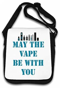 May The Vape be with You Funny Slogan Schultertasche von Atprints