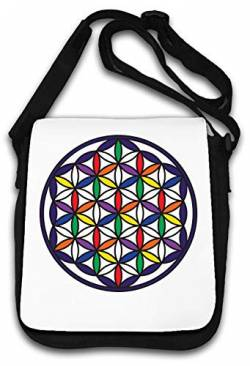 Merkaba Star Tetrahedron Flower of Life Colour Schultertasche von Atprints