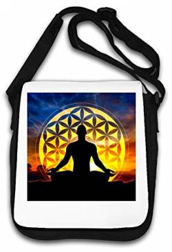 Merkaba Star Tetrahedron Flower of Life Meditatio Schultertasche von Atprints