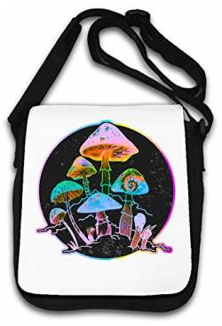 Neon Color Magic Mushrooms Trip Graphic Schultertasche von Atprints
