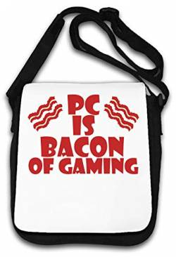 Pc is Bacon of Gaming Funny Gamers Graphic Design Schultertasche von Atprints