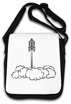 Rising Space Shuttle Grey Rocketship Artwork Schultertasche von Atprints