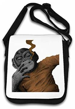 Smoking Monkey Stencil Art Schultertasche von Atprints