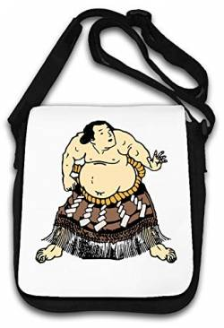 Standing Sumo Wrestler Traditional Japan Schultertasche von Atprints