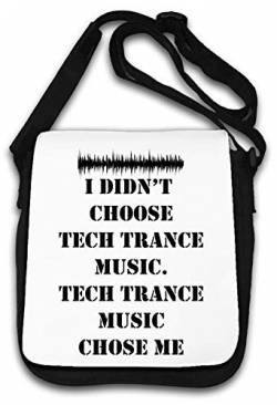 Tech Trance Music Chose Me Slogan Schultertasche von Atprints