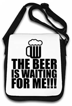 The Beer is Waiting for Me Funny Artwork Schultertasche von Atprints