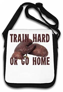 Train Hard or go Home Boxing Gloves Schultertasche von Atprints