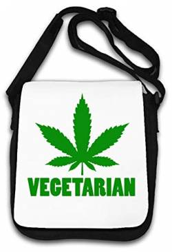 Vegetarian Funny Green Weed Graphic Schultertasche von Atprints