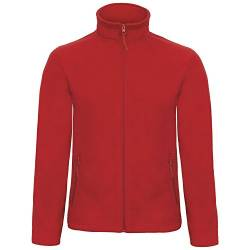 B&C Collection Herren ID 501 Mikro Fleece Jacke (XS) (Rot) von B&C