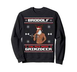 Brodolf The Red Nose Gainzdeer Gym Ugly Christmas Sweater Sweatshirt von BCC Santa's Christmas Shirts & Weihnachtsgeschenke