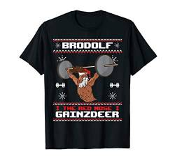 Brodolf The Red Nose Gainzdeer Gym Ugly Christmas Sweater T-Shirt von BCC Santa's Christmas Shirts & Weihnachtsgeschenke