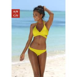 BENCH. Triangel-Bikini Damen gelb Gr.34 von BENCH.