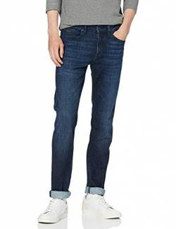 BOSS Herren Delaware BC-P Slim-Fit Jeans aus dunklem Super-Stretch-Denim von BOSS