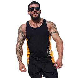 Brachial Tank-Top Squat schwarz/orange 3XL - Muscle Shirt für Bodybuilding, Kraftsport und Fitness von BRACHIAL THE LIFESTYLE COMPANY