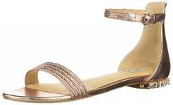 Badgley Mischka Damen Steffi Flache Sandale, Rose Gold, 37.5 EU von Badgley Mischka