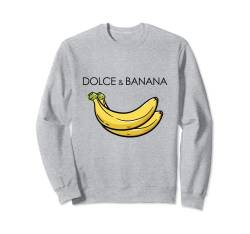 Dolce And Banana T Shirt, Funny Cute Graphic Design Banane Sweatshirt von Bahaa's Tee