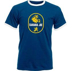 Banana Joe Original Premium Soccer Kontrast Shirt #1 Navyblau/Weiss XL von Banana Joe