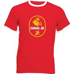 Banana Joe Original Premium Soccer Kontrast Shirt #1 rot/Weiss XL von Banana Joe