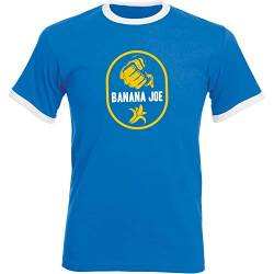 Banana Joe Original Premium Soccer Kontrast Shirt #1 Royalblau/Weiss 3XL von Banana Joe