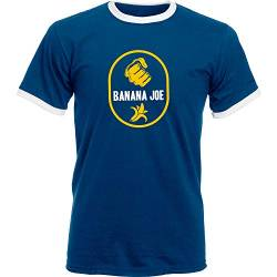 Banana Joe Original Premium Soccer Kontrast T-Shirt #2 Navyblau/Weiss L Slim von Banana Joe